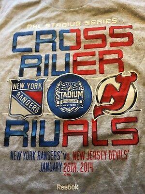 NY Rangers vs NJ Devils Winter Classic REDUCED$ T-shirt Yankee Stadium Game, -