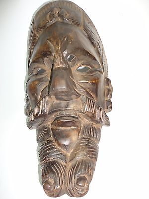 Guatemalan folks art Hand Carving Wood Mask/ Mayan Conquest Dancing Mask.