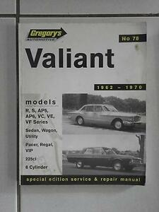 78 Gregory's Valiant Workshop Manual Narangba Caboolture Area Preview