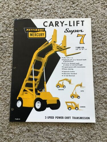 1970s  Pettibone Mercury cary-lift super 7,  original sales literature.