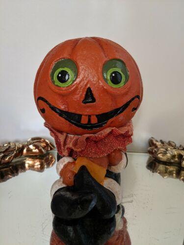 Resin Retro Halloween JOL Man Figure-Fabric-Vintage Inspired
