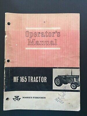 Massey Ferguson Mf165 Tractor Operators Manual