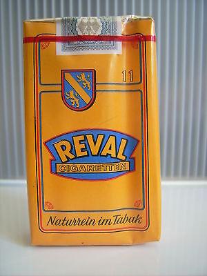 Alte 11er Zigaretten-Schachtel Packung Reval 1967-1972  Tabak  Zigarren Sammler