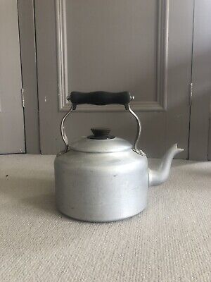 Vintage Aluminium Agaluxe Stove-Top Kettle for Aga