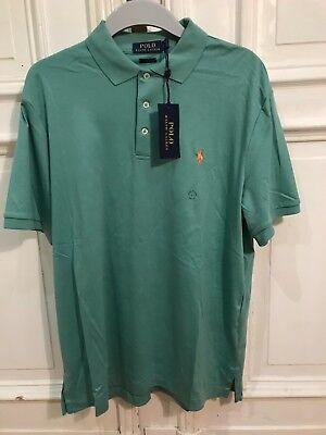 Ralph Lauren Poloshirt Polo Classic Fit Shirt Gr. L f. Herren Grün 100% Cotton online kaufen