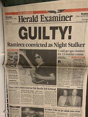 richard ramirez newspaper headlines