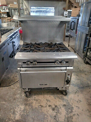 V4b36c  Vulcan Used 4 Burner Range With Convection Oven Includes Free Shipping