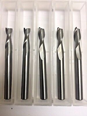 14 Dia X 34 Cut 2 Flute Square Solid Carbide End Mill Made In Usa 5-pack