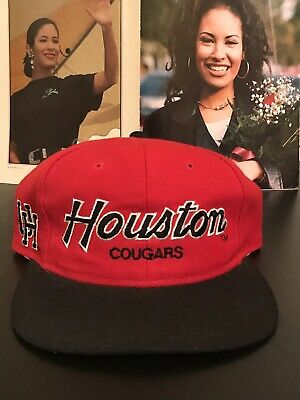 Vintage Houston Cougars Snapback By Sports Specialties Hat 90s Baseball Jersey](Houston Cougars Hat)
