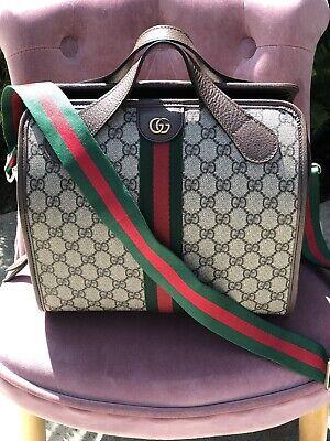 Gucci Ophidia GG Supreme Logo Satchel Handbag (BRAND NEW)