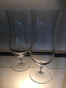 Pair Of Luigi Bormioli Extra Large Crystal Cocktail Glasses.
