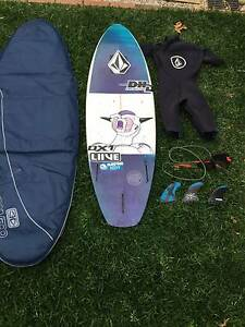 Surf Kit// Dhd DX1, Future fins, vlocom wetsuit,dakine leash, Bag Gladesville Ryde Area Preview