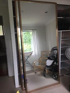 Sliding mirror wardrobe door frame gold - multiple available Springfield Gosford Area Preview