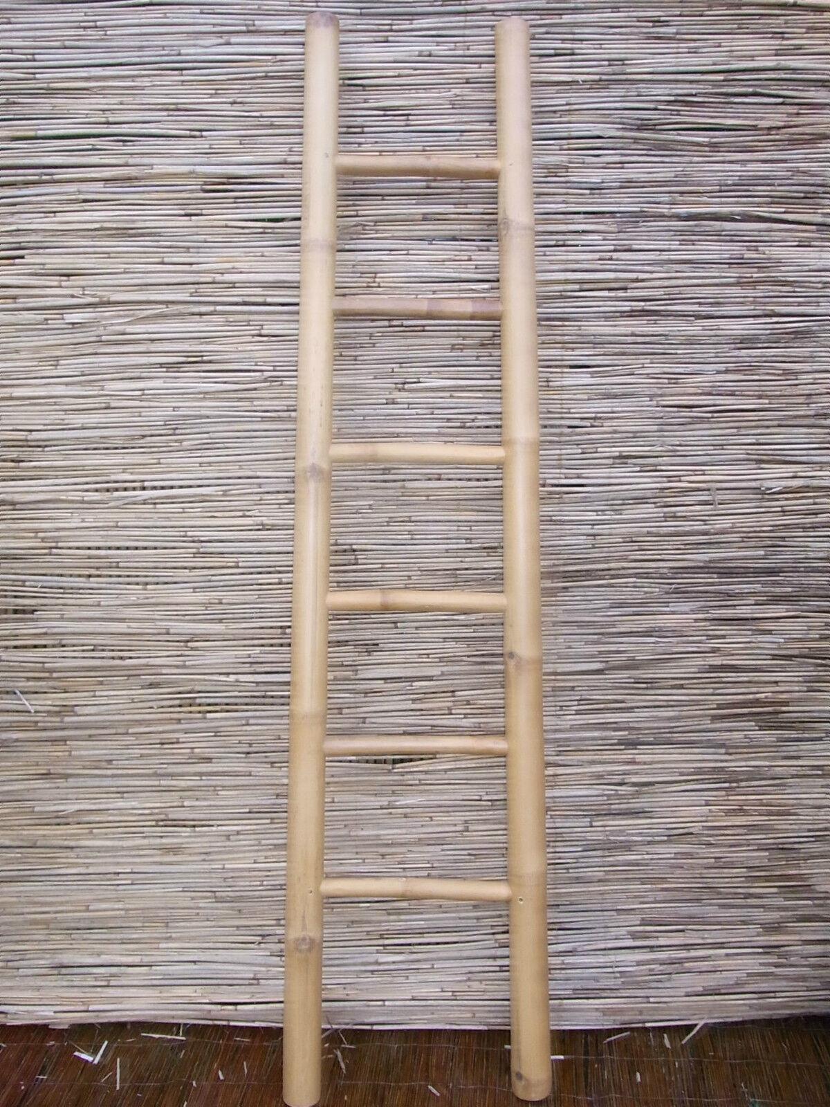 bambusleiter leiter handtuchhalter kleiderst nder kleiderleiter 200cm 3 farbig eur 41 90. Black Bedroom Furniture Sets. Home Design Ideas