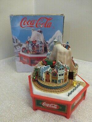 "Vintage Coca-Cola 5"" Alpine Express Music Box, White Christmas Enesco in Box!"