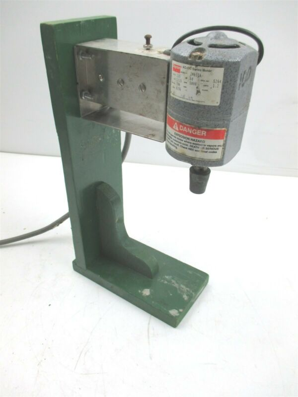 Lab Mixer Stirrer Agitator Dayton 2M033A 1/15 hp 5000 rpm 1.2 Amp w/ Wood Stand
