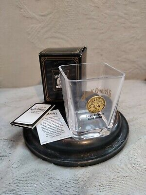 JACK DANIELS 1905 GOLD MEDAL SHOT GLASS Liege Belgium NEW in BOX w/ COA