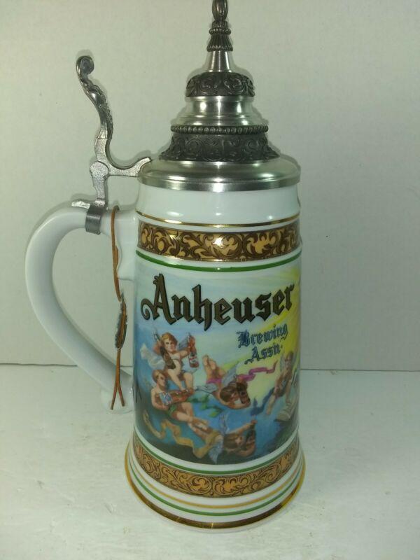 1992 Handcrafted Anheuser-Busch Collector Cherub Stein, Germany