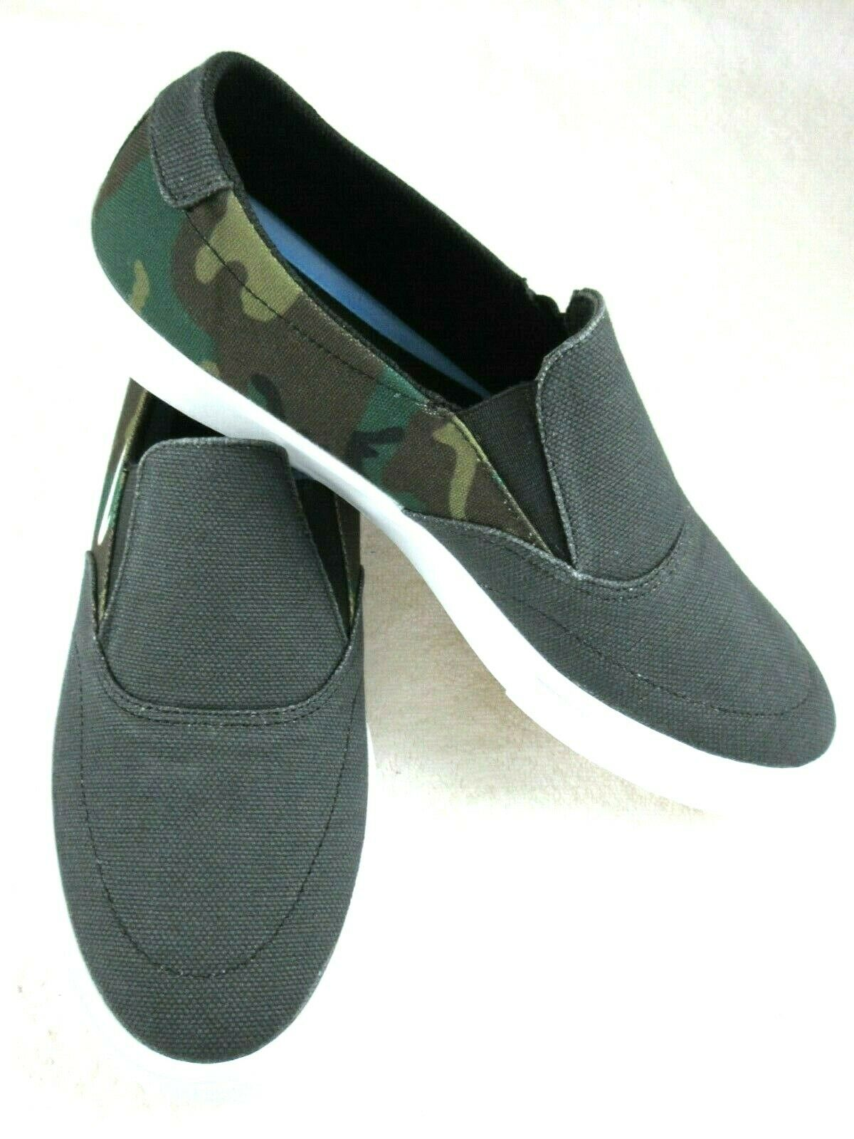 Nike Mens SB Portmore II SLR Slip On Canvas Skate Shoes Blac