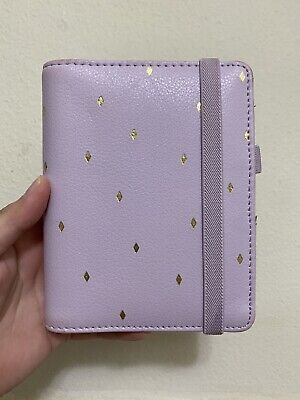 Kikki K Planner Small Personal Leather Purple Lilac Elastic With Some Inserts