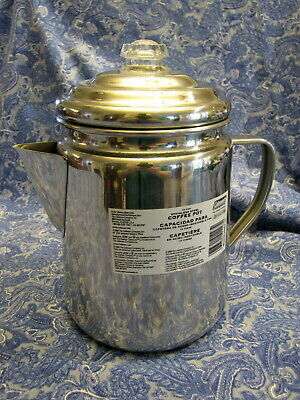 COLEMAN COFFEE POT PURCOLATOR STAINLESS STEEL 12 CUP MODEL 805D712T ()