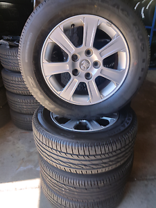 4x Holden 16x7 alloys wheels mags and tyres for commodore Caloundra Caloundra Area Preview