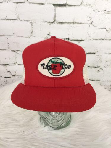 Tree Top Trucker Hat Cap Red Mesh Snapback Vintage