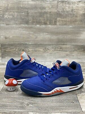 Nike Air Jordan 5 V Retro Low Knicks Royal Blue Orange Navy SZ 14 819171-417
