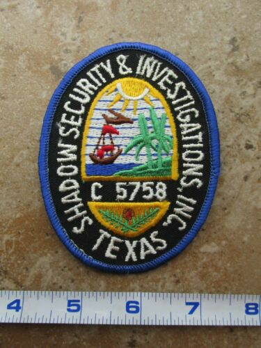 OBSOLETE Vintage Texas Shadow Security & Investigations Inc C5758 Shoulder Patch