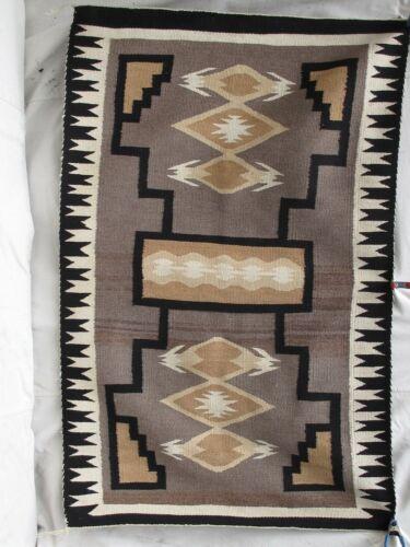 "Antique Natural Wool & Dyes Navajo Crystal  Rug 37"" x 58""  c.1920"