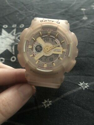 casio g-shock baby-g sea glass pink watch g shock with box and papers