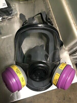Honeywell Full Face Respirator 7600 Series No Cartridges. Universal Face Fit