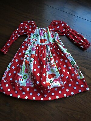 Girls Size 5 T Holiday / Christmas Dress Handmade From Etsy (5t Christmas Dresses)