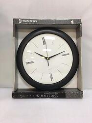Roman 12 Wall clock White/Black - TimeKeeper