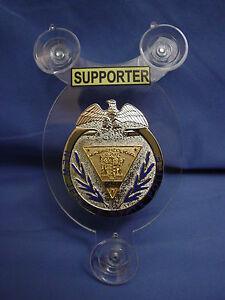 NJSP  NEW JERSEY STATE POLICE   POLICE SUPPORTER CAR SHIELD - NJSP - FOP -06
