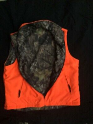 Woolrich Hunting Vest Mens Size Large Camo/Orange Reversible