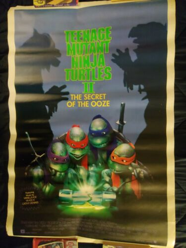 TEENAGE MUTANT NINJA TURTLES 2: SECRET OF THE OOZE 1991 ORIGINAL DS MOVIE POSTER