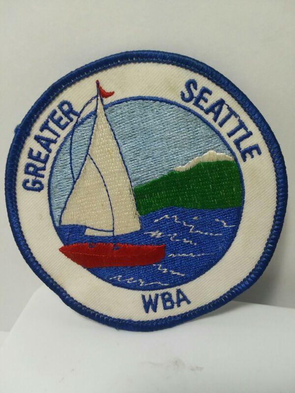 Greater Seattle Washington WBA Patch Sailboat Sailing Boating Association LQQK