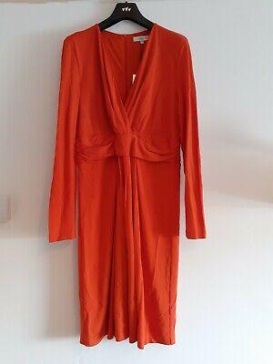 Issa Orange Dress Size 18 BNWT