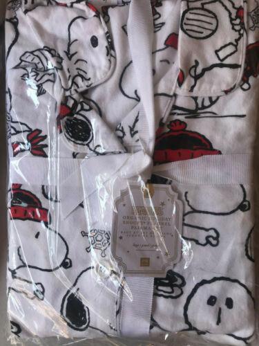 Pottery Barn Teen Peanuts® Organic Flannel Snoopy® Multi Pajama Set Large