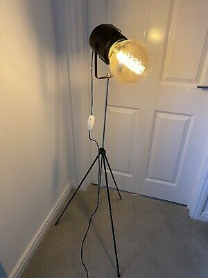 Vintage Industrial Theatre Photography Light Lamp On Tripod Floor Lamp