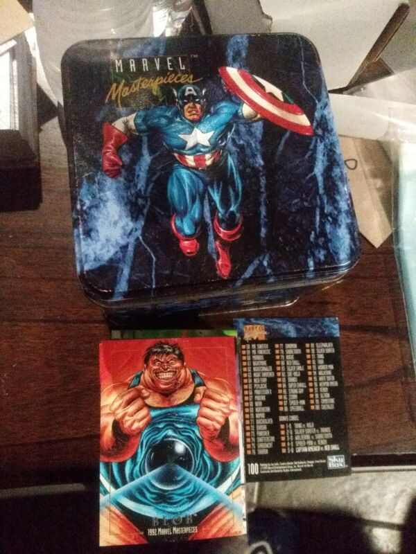 1992 Marvel Masterpieces  Complete Base Set with empty Tin