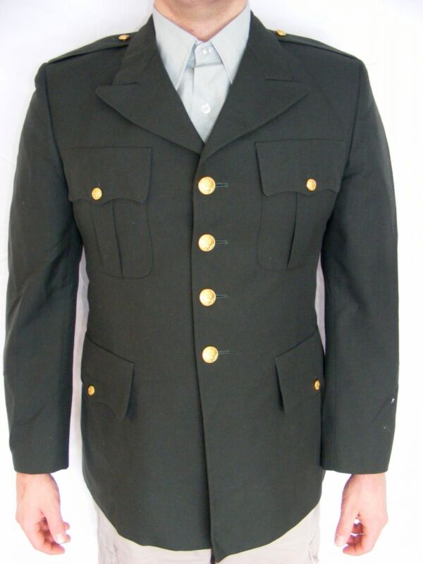 US Military Army Enlisted Men's Uniform Coat Jacket Green Size 43R Used