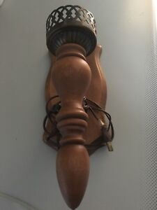 3 Lampes vintage en bois