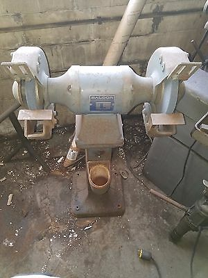 Baldor Grinder With Pedestal Cat. No. 1021w Sn F1271 1.5 Hp 14251725 Rpm