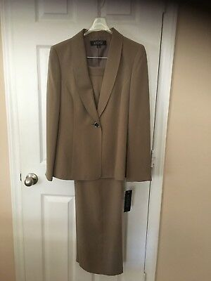 Womans Kasper Taupe Pants  Suit  - Size 10