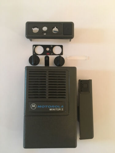 New OEM Motorola Minitor II (2) Housing Refurb Kit - Gray