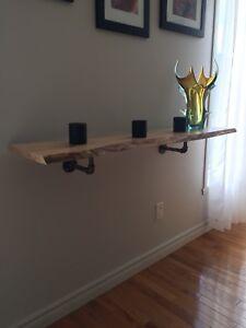 Tablette murale , étagère , console /bar ,en bois naturel.
