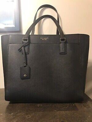 Gorgeous Kate Spade Cameron Laptop Tote Black Saffiano Leather Work Tote Bag!!