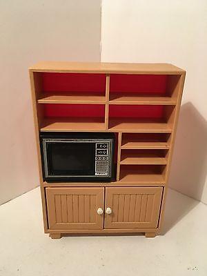 Dollhouse Miniatures Vintage Plastic TOMY Entertainment Center & TV 1:16 #12